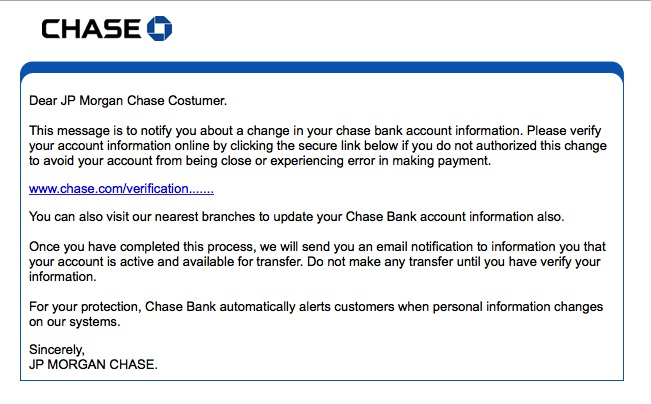 Chase scam
