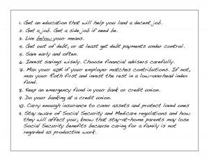 Advice on a card 2