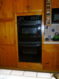 Late, a double oven; now, two storage cabinets